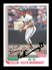 Keith Drumright Autographed 1982 Topps Rookie Card #673 Oakland A's SKU #166783