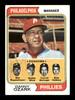 Ray Ripplemeyer Autographed 1974 Topps Card #119 Philadelphia Phillies Coach SKU #167173