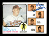Earl Weaver & George Bamberger Autographed 1973 Topps Card #136 Baltimore Orioles SKU #167578