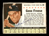 Gene Freese Autographed 1961 Post Cereal Card #30 Chicago White Sox SKU #171501
