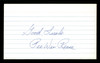 """Pee Wee Reese Autographed 3x5 Index Card Brooklyn Dodgers """"Good Luck"""" SKU #174233"""