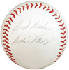 """Willie Mays Autographed Official Spalding Giles NL Baseball New York Giants """"Best Wishes"""" Vintage 1952-57 Era Signature PSA/DNA #AH01110"""