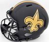 Drew Brees Autographed New Orleans Saints Black Eclipse Full Size Speed Replica Helmet Beckett BAS Stock #177123