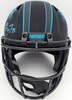 Christian McCaffrey Autographed Carolina Panthers Black Eclipse Full Size Speed Replica Helmet Beckett BAS Stock #185909