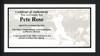 "Pete Rose Autographed Black Mizuno Bat Cincinnati Reds Stat Bat ""4256"" In White PR Holo Stock #178274"
