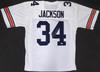 Auburn Tigers Bo Jackson Autographed White Jersey Beckett BAS Stock #179059