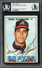 Wade Blasingame Autographed 1967 Topps Card #119 Atlanta Braves High Number Beckett BAS #12409503