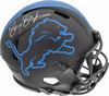 Barry Sanders Autographed Detroit Lions Black Eclipse Full Size Speed Authentic Helmet Beckett BAS Stock #177665