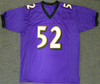 Baltimore Ravens Ray Lewis Autographed Purple Jersey Beckett BAS Stock #181096