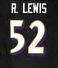 Baltimore Ravens Ray Lewis Autographed Black Jersey Beckett BAS Stock #181097