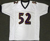 Baltimore Ravens Ray Lewis Autographed White Jersey Beckett BAS Stock #181098