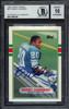 Barry Sanders Autographed 1989 Topps Traded Rookie Card #83T Detroit Lions Auto Grade Gem Mint 10 Beckett BAS Stock #181874