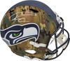 Russell Wilson Autographed Seattle Seahawks Camo Full Size Replica Speed Helmet RW Holo & Beckett BAS Stock #182232