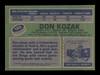 Don Kozak Autographed 1976-77 Topps Card #185 Los Angeles Kings SKU #183128