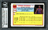 Dennis Rodman Autographed 1992-93 Topps Card #137 Detroit Pistons Signed In Blue Beckett BAS #12518294