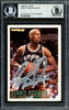 Dennis Rodman Autographed 1994-95 Fleer Card #209 San Antonio Spurs Beckett BAS #12516953
