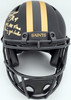 """Drew Brees Autographed New Orleans Saints Black Eclipse Full Size Speed Authentic Helmet """"NFL All Time Passing Yds Leader"""" Beckett BAS Stock #185738"""