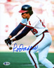 Rod Carew Autographed 8x10 Photo California Angels Signed In Blue Beckett BAS Stock #185961
