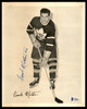 Frank Mathers Autographed 1945-54 Quaker Oats 8x10 Photo Toronto Maple Leafs Beckett BAS #Y92519
