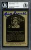 Rick Ferrell Autographed 1984 Metallic HOF Plaque Card Boston Red Sox Beckett BAS #12516218