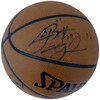 """2002-03 St. Vincent - St. Mary Fighting Irish Multi Signed Autographed Basketball With 8 Signatures Including LeBron """"King"""" James High School Signature PSA/DNA #AI01382"""