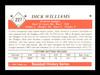 Dick Williams Autographed 1981 TCMA Card #227 Brooklyn Dodgers SKU #189312