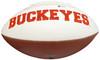 Justin Fields Autographed Ohio State Buckeyes White Logo Football Beckett BAS Stock #190000