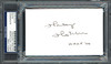 Harley Hotchkiss Autographed 3x5 Index Card Calgary Flames Owner PSA/DNA #83721477