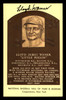 Lloyd Waner Autographed HOF Plaque Postcard Pittsburgh Pirates SKU #190937