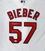"Cleveland Indians Shane Bieber Autographed White Nike Jersey Size XL ""Go Tribe"" Beckett BAS Stock #190030"