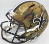 "Drew Brees Autographed New Orleans Saints Camo Full Size Replica Speed Helmet ""SB XLIV MVP"" Beckett BAS Stock #191124"