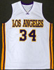 Los Angeles Lakers Shaquille O'Neal Autographed White Jersey Signed on #3 Beckett BAS Stock #191133