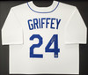 Seattle Mariners Ken Griffey Jr. Autographed Framed White Nike Throwback Jersey Beckett BAS & MCS Holo Stock #191174