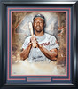"Hank Aaron Autographed Framed 20x24 Photo Atlanta Braves ""755 HOF 82"" Fanatics Stock #191204"