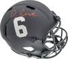 Devonta Smith Autographed Alabama Crimson Tide Eclipse Black Full Size Replica Speed Helmet Beckett BAS Stock #191975