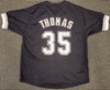Chicago White Sox Frank Thomas Autographed Black Jersey Beckett BAS Stock #192591