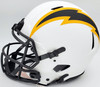Justin Herbert Autographed Los Angeles Chargers Lunar Eclipse White Full Size Authentic Speed Helmet Beckett BAS QR Stock #192611
