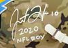 "Justin Herbert Autographed Los Angeles Chargers Camo Full Size Replica Speed Helmet ""2020 NFL ROY"" Beckett BAS QR Stock #192615"