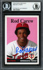 Rod Carew Autographed 2019 Topps Archives Card #66 Minnesota Twins Beckett BAS Stock #193418
