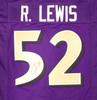 Baltimore Ravens Ray Lewis Autographed Purple Jersey JSA Stock #193495