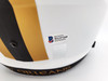 """Drew Brees Autographed New Orleans Saints Lunar Eclipse White Full Size Replica Speed Helmet """"80,358 Passing Yds"""" Beckett BAS Stock #193499"""