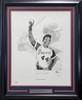 Hank Aaron Autographed Framed 22x28 Lithograph Photo Atlanta Braves Artist Proof #43/400 Beckett BAS #V62672
