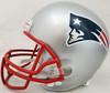 Tom Brady Autographed New England Patriots Silver Full Size Replica Helmet Fanatics Stock #193851