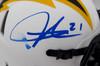 LaDainian Tomlinson Autographed San Diego Chargers Lunar Eclipse White Speed Mini Helmet (Smudged) Beckett BAS QR #WK09860