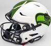 "Russell Wilson Autographed Seattle Seahawks White Lunar Eclipse Full Size Authentic Hyper Speed Flex Helmet ""SB XLVIII Champs"" RW Holo & Beckett BAS Stock #194025"