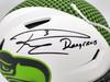 "Russell Wilson Autographed Seattle Seahawks White Lunar Eclipse Full Size Authentic Hyper Speed Flex Helmet ""DangeRuss"" RW Holo & Beckett BAS Stock #194026"