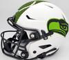 "Russell Wilson Autographed Seattle Seahawks White Lunar Eclipse Full Size Authentic Hyper Speed Flex Helmet ""Go Hawks"" RW Holo & Beckett BAS Stock #194027"