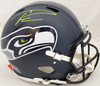 Russell Wilson Autographed Seattle Seahawks Full Size Authentic Speed Helmet (Smudged) Beckett BAS & RW Holo #WE94929