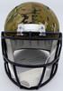 Justin Fields Autographed Chicago Bears Camo Full Size Replica Speed Helmet Beckett BAS QR Stock #194771