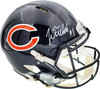 Justin Fields Autographed Chicago Bears Blue Full Size Authentic Speed Helmet Beckett BAS QR Stock #194774